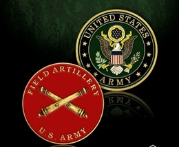 "ARMY FIELD ARTILLERY 1.75"" MILITARY CHALLENGE COIN - $17.09"