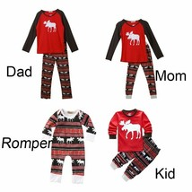 Family Matching Christmas Pajamas Set Sleepwear Nightwear Homewear Uniform - $6.91+
