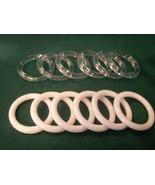 """24 Plastic Napkin Rings 1.75"""" diameter - White - $4.94"""