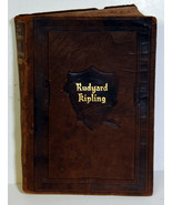 Antique Book Rudyard Kipling Works One Volume Edition Leather Covers - $18.99