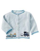 Favorite Toys 2007 Gymboree NWT Choo Choo Trains Cardigan Sweater 6- 12  mos - $11.20