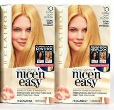 2 Boxes Clairol Nice N Easy Repair Plex 10 Extra Light Blonde Permanent ... - $21.99