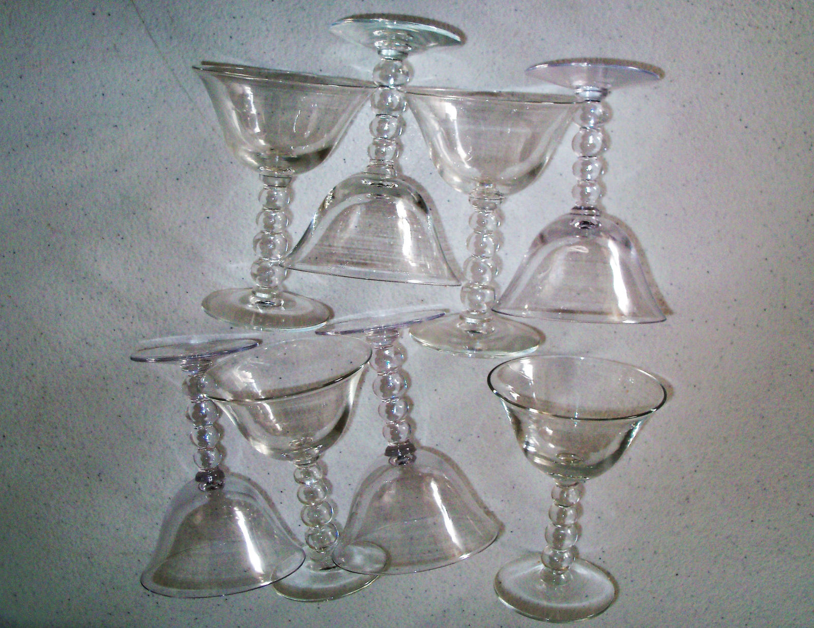 Imperial Glass Candlewick Set Of Eight Liquor Cocktail Glasses