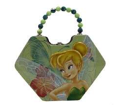 Disney's Tinkerbell & Fairies Girls Diamond Purse Carry All Tin Tote Sty... - $9.74