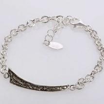Silber Armband 925 Rhodium Herren By Maria Ielpo Made in Italien - $148.67