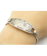 CAROLEE 925 Silver - Vintage Etched Love Quote Hooked Bangle Bracelet - ... - $80.02