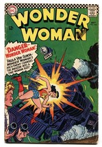 Wonder Woman #163 Comic Book 1966-DC COMICS-TRAIN Crash Cover - $27.74