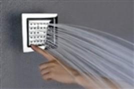 Solid Brass Chrome Square Body Spray Shower Jets- Unit Price - $122.00