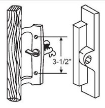 Sliding Glass Patio Door Handle Internal Locking, Non-Keyed, Black, 3-1/... - $21.73