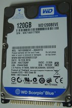 NEW 120GB IDE 44PIN 2.5 inch 9.5MM Hard Drive WD WD1200BEVE Free USA Shipping