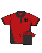 Marvel Comics The Amazing Spider-Man Spider Logo Polo Shirt NEW UNWORN - $28.54