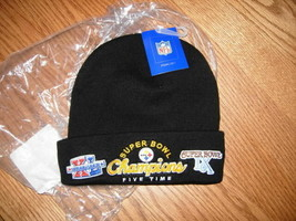 NEW PITTSBURGH STEELERS SUPER BOWL FIVE TIME CHAMPIONS NFL KNIT HAT REEBOK - $17.95