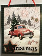 Red Truck Christmas Hanging Plaque From Flomo - $2.27