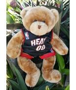 Build a Bear Miami Heat Teddy Bear Plush Stuffed Animal NBA Jersey  17 I... - $12.86