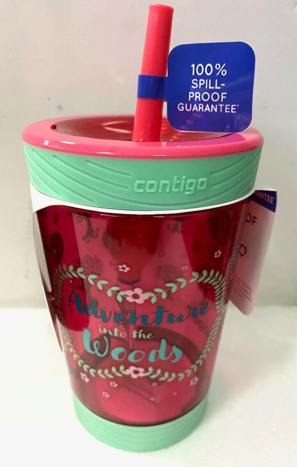 Contigo Kids 14oz Spill-Proof Tumbler with Straw Pink Adventure Children Bottle