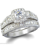 TOP QUALITY 2.25ct Antique Estate Style Wedding Engagement Ring Set - $59.99