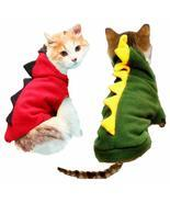 Warm Cat Clothes Pet Dog Costume Suit Halloween Dragon Clothing For Cat ... - $13.00+