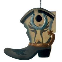 Birdhouses, Decorative Wooden Bird Houses Outdoor Hanging Western Boot B... - $20.23