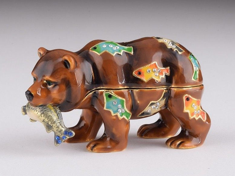 Primary image for A bear trinket box hand made by Keren Kopal & Austrian crystals Faberge