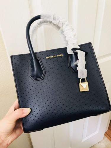 d14f6bf4d47311 12. 12. New Authentic MICHAEL Kors Mercer Perforated Leather Crossbody ...