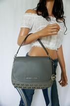 Michael Kors Bedford M Convertible Jacquard Leather Shoulder Bag MK Heat... - $150.43 CAD