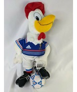 """Adidas FFF Rooster Soccer Plush 15"""" France Advertising Stuffed Animal  - $69.95"""