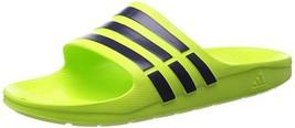 Adidas Men's Duramo Slide Sandals Beach Shoes Flip Flops - B23231 - Lime Green - $31.37