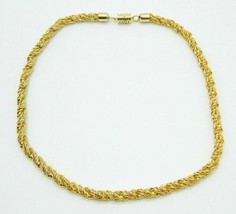 Pcraft Gold Tone Heavy Chain Link Rope Chain Necklace Vintage 1960s - $19.79