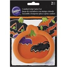 Wilton 2-Piece Pumpkin & Bat Halloween Cookie Cutter Set - $10.87