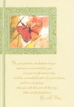 "Greeting Card Confirmation ""As You Parents, We Believe in You...."" - $9.45"