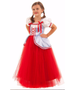 Princess Dorothy Wizard Of Oz Halloween Dress Up Costume Small sz 6 Full Gown - $24.74