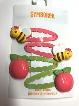 Gymboree Peaches & Bee's Line Barrette Clip Snap NWT Girl Bee's Yellow Orange - $21.95