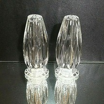 "2 (Two) MIKASA PARK LANE Cut Lead Crystal Salt & Pepper Set 4"" Tall DISC... - $61.74"