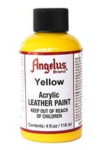 Angelus Acrylic Leather Paint-4oz.-Yellow - $4.46