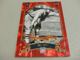 2012 Panini Cooperstown Crystal Collection Red /399 Mel Ott New York Giants - $3.12