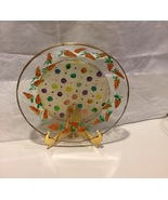 """Carrot For The Easter Bunny or Serving Hand Painted 7"""" Glass Plate  - $9.99"""