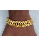 Vintage 22kt gold bracelet bangle handmade gold cuff gold jewelry - $3,513.51