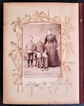 antique PHOTO ALBUM harrisburg pa HOCKER FOX MINSKER FELLABAUM SNEIGH LI... - $128.95