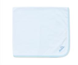 Little Me Baby Boys Choo Choo Train Tag Along Blanket Light Blue Stripe ... - $29.69