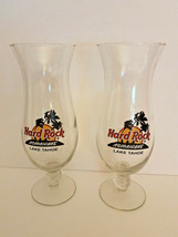 2 Hard Rock Cafe Lake Tahoe Hurricane Cocktail Drink Bar Glasses  - $11.88