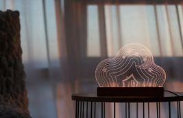 Mooas USB Wired Acryl LED Cloud Night Mood Lights Lighting Lamp Indoor Interior image 4
