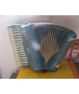 120 Bass TITANO  Accordion 1960s  Light Blue Rare Vintage - $700.00