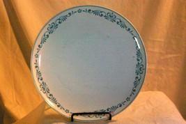 "Franciscan Blue Fancy Dinner Plate 10 1/4"" Whitestone Ware - $4.84"