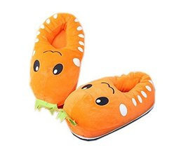 Kids Cartoon Carrot Warm Slipper Winter Indoor Slippers, 5-12 Yrs