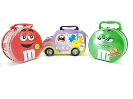 M&M Character tin Lot of 3 by Mars Inc. 2002 - $42.03
