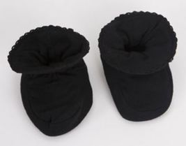 Black Baby Booties Size 0-9 Months - $10.00