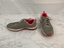Skechers Skech-knit Sneakers Womens Size 7 Running Pink Gray Shoes K1 - $24.45