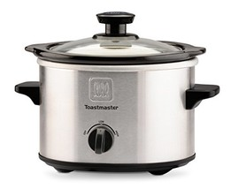 Toastmaster TM-151SC Stainless Steel Slow Cooker with (1.5-Quart|Silver/... - $23.74