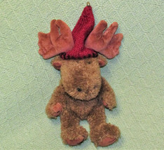 """Vintage 11"""" Boyds Cousin Murray Moose With Burgundy Hat B EAN Bag Hard To Find Toy - $24.75"""