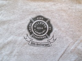 Fire Fighters Gillette 2014 Carnival local 21 T Shirt Size L - $1.99